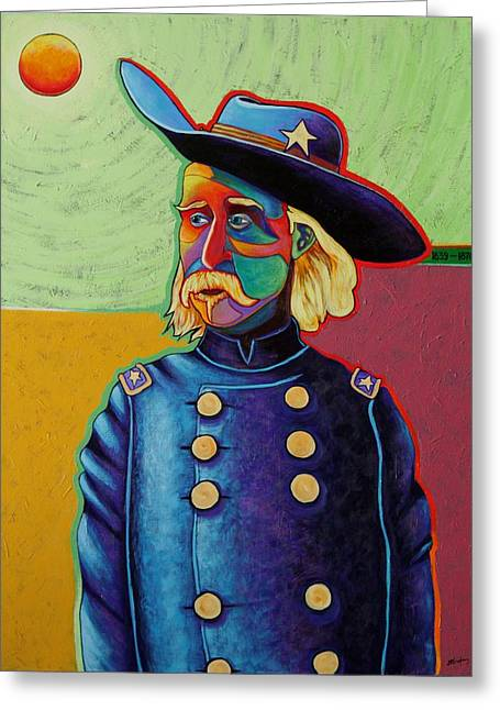 Little Big Horn Greeting Cards - Zero Hero - George Armstrong Custer Greeting Card by Joe  Triano