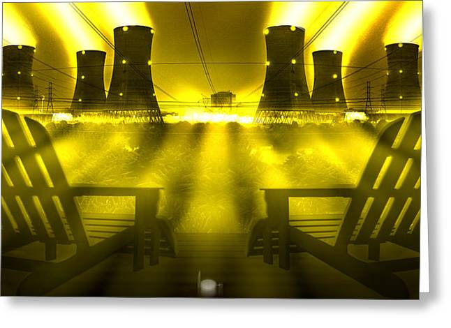 Nuclear Greeting Cards - Zero Hour in Yellow Greeting Card by Mike McGlothlen