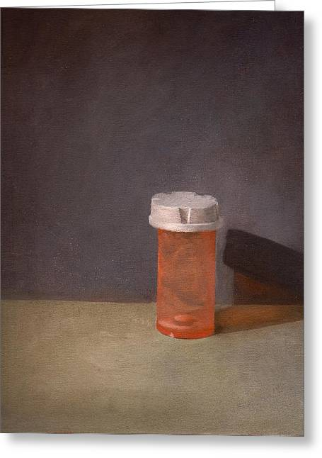 Medication Paintings Greeting Cards - Zero Refills Remaining Greeting Card by John Pacer