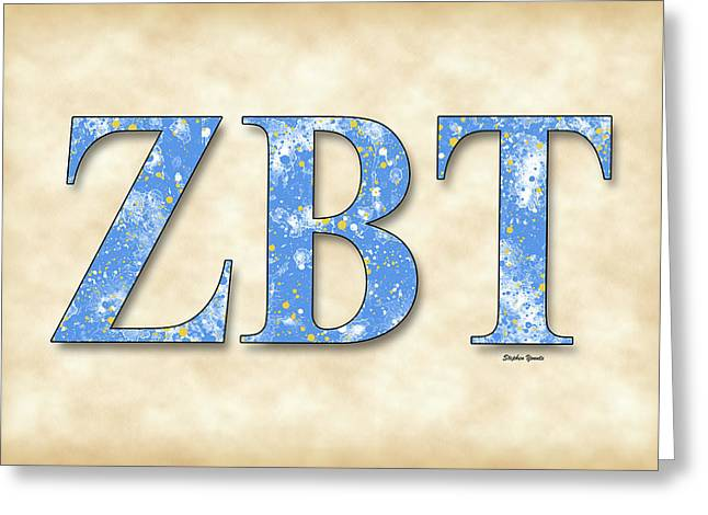 Zeta Beta Tau - Parchment Greeting Card by Stephen Younts