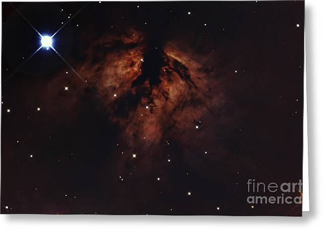 Orionis Greeting Cards - Zeta Orionis With The Flame Nebula Greeting Card by John Chumack
