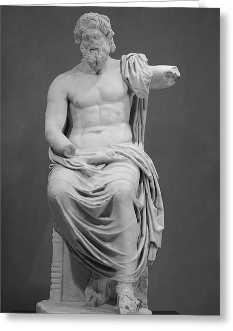 Statue Portrait Greeting Cards - Zeus Greeting Card by Ivete Basso
