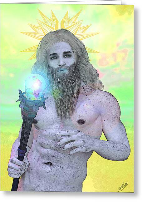 Stud Drawings Greeting Cards - Zeus By Quim Abella Greeting Card by Joaquin Abella