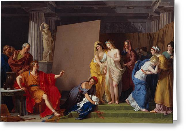 Choosing Paintings Greeting Cards - Zeuxis Choosing his Models for the Image of Helen from among the Girls of Croton Greeting Card by Francois-Andre Vincent