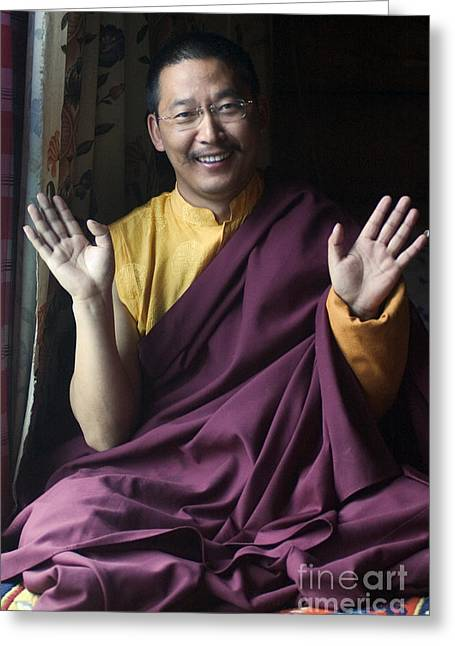 Buddhist Region Greeting Cards - Zha Xi Lang Jia Rimpoche - Kham Tibet Greeting Card by Craig Lovell
