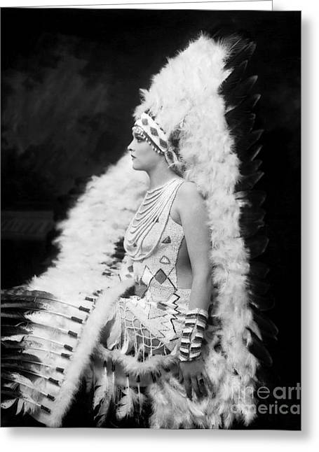 Indian Actor Greeting Cards - Ziegfeld Showgirl Model - Gladys Glad - Whoopee Greeting Card by MMG Archive Prints