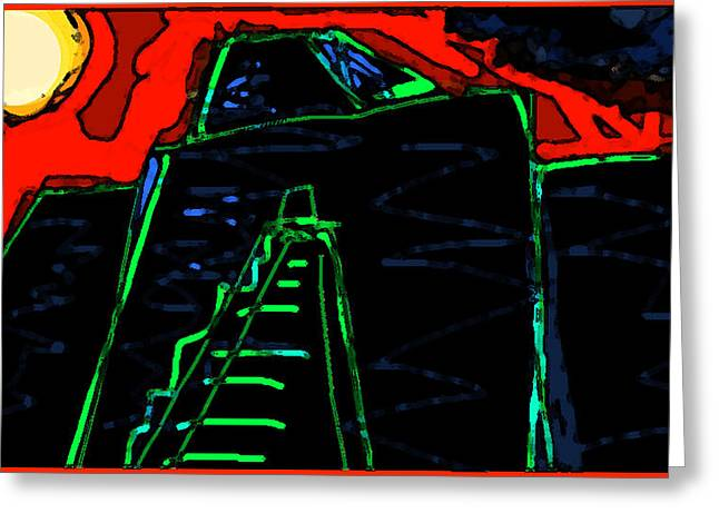 Recently Sold -  - Sand Castles Greeting Cards - Ziggurat Nites Greeting Card by Paul Sutcliffe