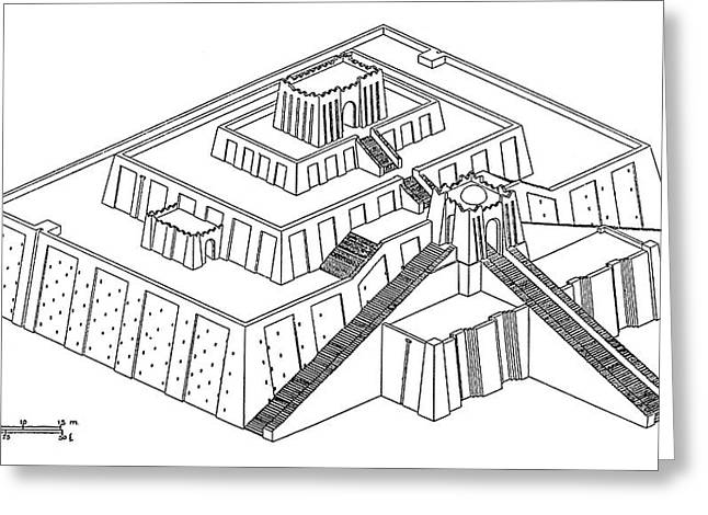 Ziggurat Of Ur-nammu Greeting Card by Granger
