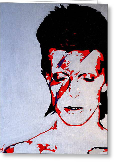 Ziggy Stardust Greeting Cards - Ziggy Stardust Greeting Card by Ryan Harvey