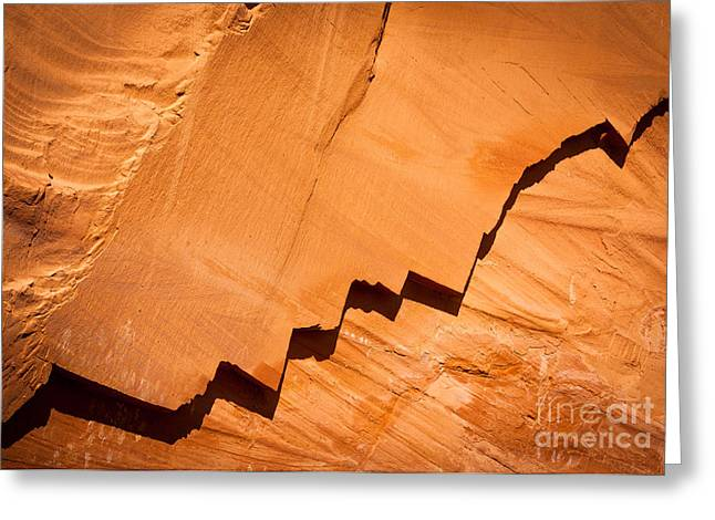 Southwest Usa Greeting Cards - Zigzag Sandstone Greeting Card by Inge Johnsson