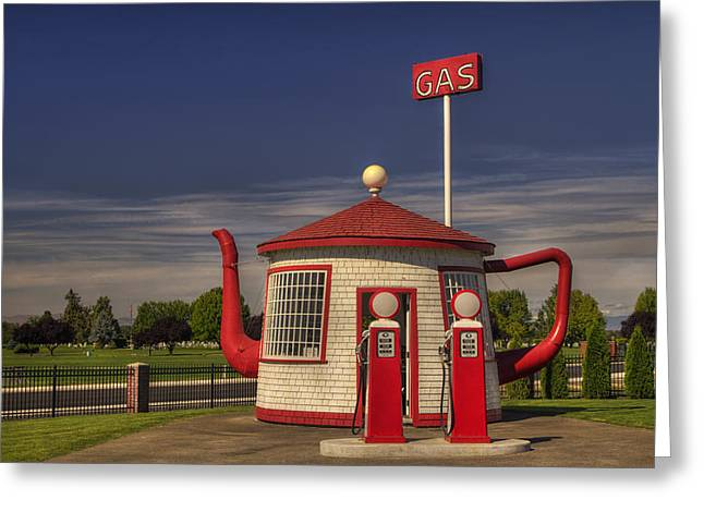 Service Station Greeting Cards - Zillah Teapot Dome Service Station Greeting Card by Mark Kiver