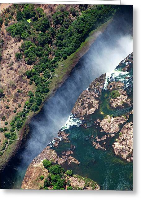 Zimbabwe, Victoria Falls Greeting Card by Kymri Wilt