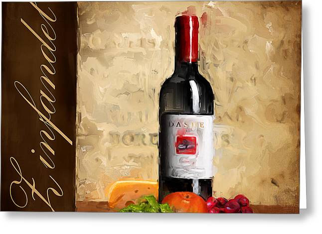 Merlot Greeting Cards - Zinfandel III Greeting Card by Lourry Legarde