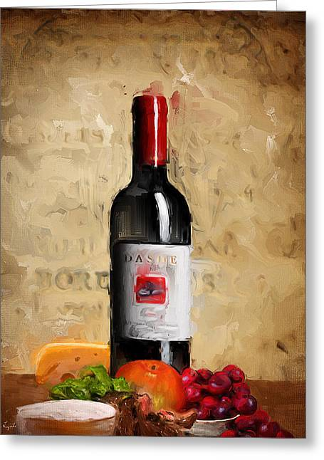 Purple Grapes Paintings Greeting Cards - Zinfandel IV Greeting Card by Lourry Legarde