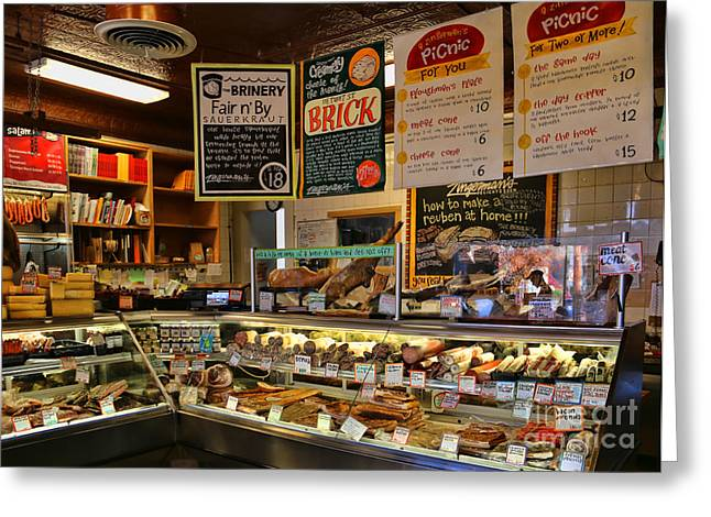 Deli Greeting Cards - Zingermans Deli 5045 Greeting Card by Jack Schultz