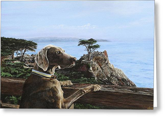 The Lone Cypress Greeting Cards - Zion and the Lone Cypress Greeting Card by Vicky Path