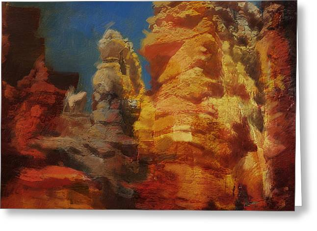 Zion Greeting Cards - Zion Canyon Greeting Card by Corporate Art Task Force