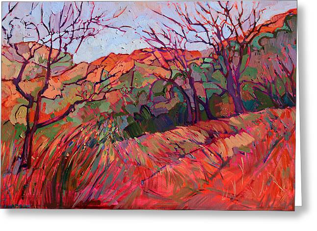 Zion Park Greeting Cards - Zion Flame Greeting Card by Erin Hanson