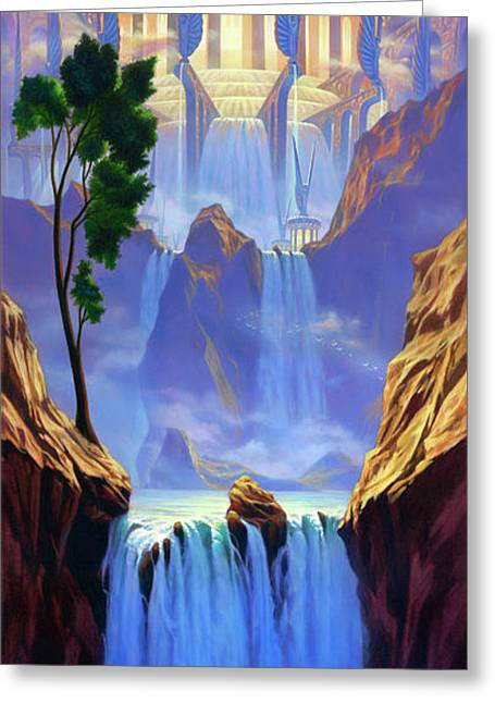 River Of Life Greeting Cards - Zion Greeting Card by Jeff Haynie