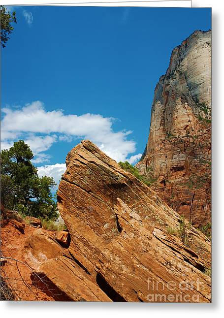 Monolith Greeting Cards - Zion National Park 4 Greeting Card by Micah May