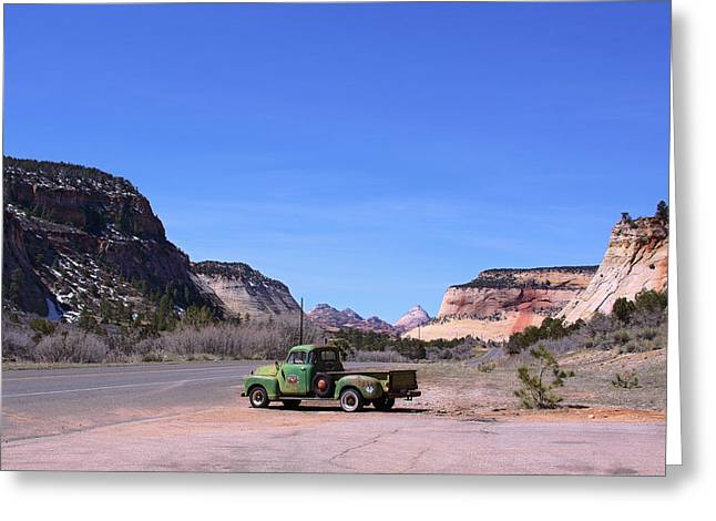 Crazy Quilt Greeting Cards - Zion National Park Eastern Entrance Greeting Card by Viktor Savchenko