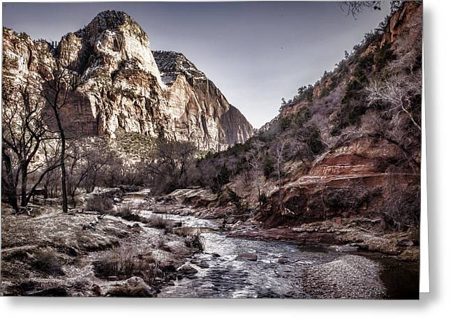Monolith Greeting Cards - Zion NP Greeting Card by Heather Applegate