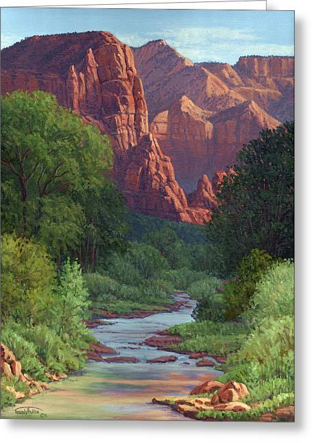 Randy Greeting Cards - Zion Greeting Card by Randy Follis