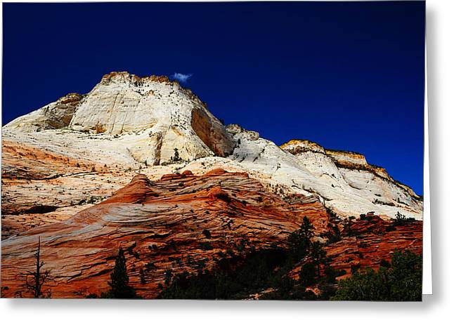 Southern Utah Greeting Cards - Zions Mount Greeting Card by Tayne Hunsaker