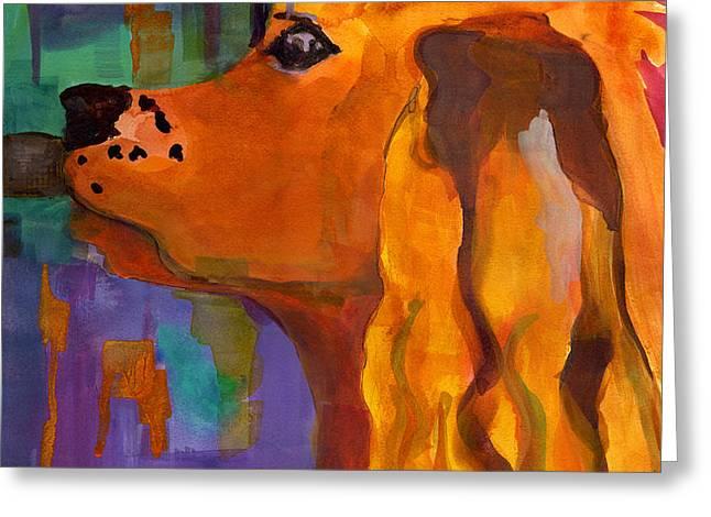Zippy Dog Art Greeting Card by Blenda Studio
