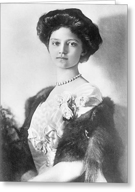 Royalty Greeting Cards - Zita, H.r.h. Empress Of Austria, Princess Of Bourbon And Parma, 1914 Photograph Greeting Card by Bridgeman Images