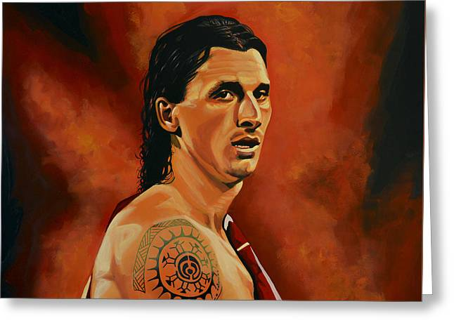 Sports Arenas Greeting Cards - Zlatan Ibrahimovic Greeting Card by Paul Meijering
