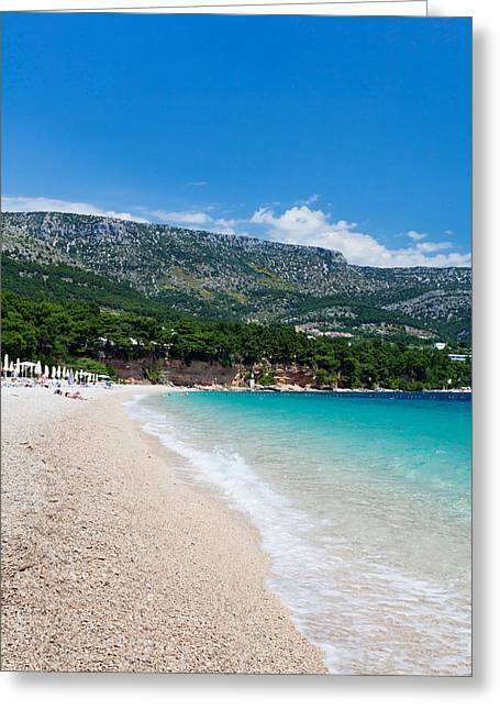 Adriatic Sea Greeting Cards - Zlatni Rat Beach, Bol, Brac Island Greeting Card by Panoramic Images
