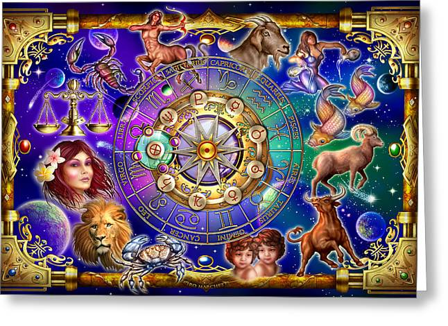 Extinct And Mythical Digital Art Greeting Cards - Zodiac 2 Greeting Card by Ciro Marchetti