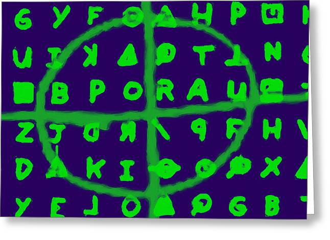 Zodiac Killer Code and SIgn 20130213p128 Greeting Card by Wingsdomain Art and Photography