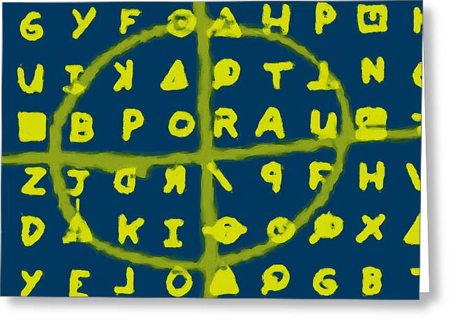 Zodiac Killer Code and SIgn 20130213p68 Greeting Card by Wingsdomain Art and Photography
