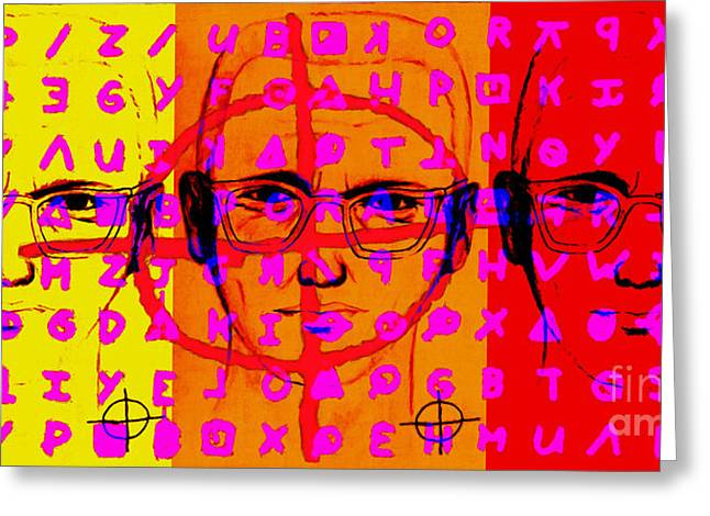 Zodiac Killer Three With Code and SIgn 20130213 Greeting Card by Wingsdomain Art and Photography