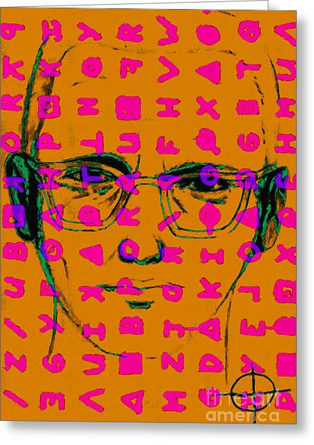 Lake Berryessa Greeting Cards - Zodiac Killer With Code and SIgn 20130213m80 Greeting Card by Wingsdomain Art and Photography