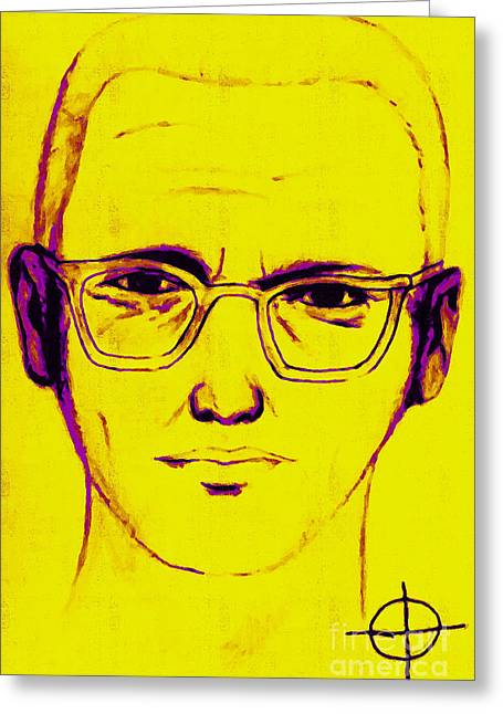 Lake Berryessa Greeting Cards - Zodiac Killer With SIgn 20130213m68 Greeting Card by Wingsdomain Art and Photography