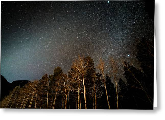 Zodiacal Greeting Cards - Zodiacal Light Meets Winter Milky Way Greeting Card by Mike Berenson