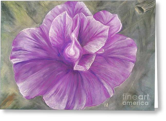 Pink Blossoms Pastels Greeting Cards - Zoe Greeting Card by Anne Ingelbach