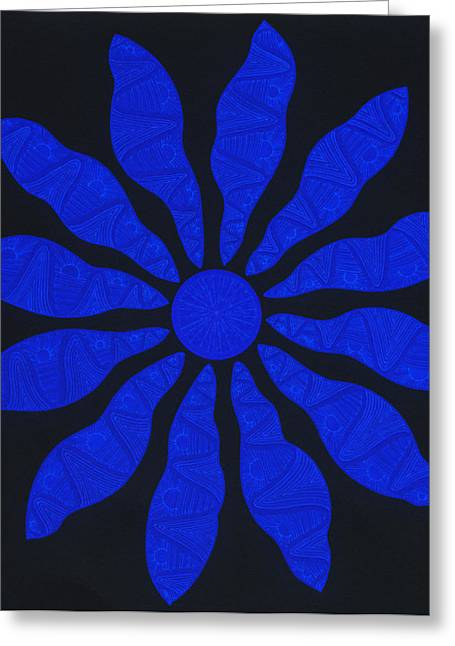 Blacklight Greeting Cards - Zol Inversion Greeting Card by Dave Migliore