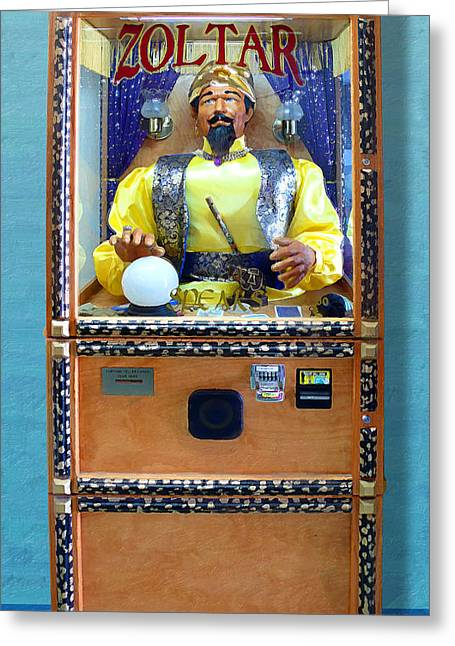Ventura California Greeting Cards - Zoltar Speaks Greeting Card by Ron Regalado