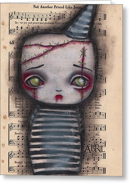 Surreal Pop. Abril Greeting Cards - Zombie Boy Greeting Card by  Abril Andrade Griffith