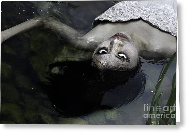 Floating Girl Greeting Cards - Zombie Bride Greeting Card by Stephanie Leyva