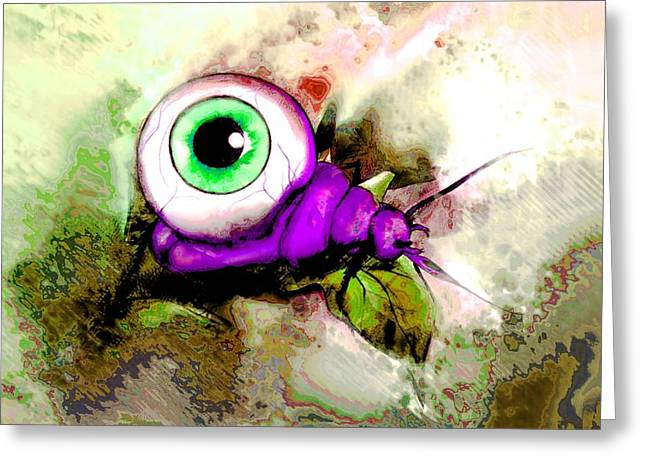 Goulish Greeting Cards - Zombie Insect Greeting Card by Jenni Mitkovic