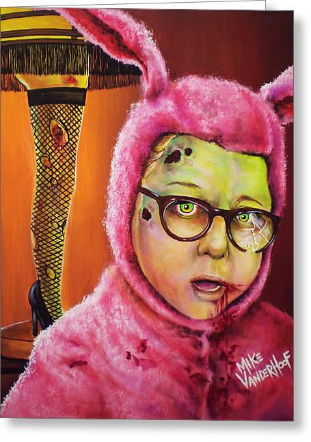 Leg Lamp Greeting Cards - Zombie Ralphie Greeting Card by Michael Vanderhoof