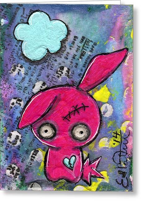 Oddling Greeting Cards - Zombiemania 1 Greeting Card by Lizzy Love