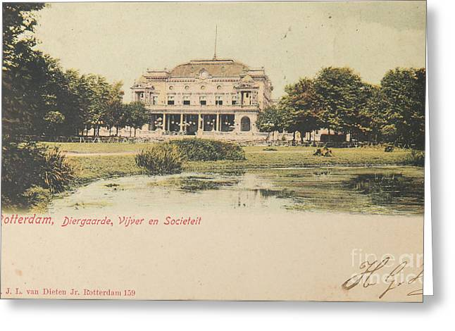 1901 Greeting Cards - Zoo in Rotterdam in 1901 Greeting Card by Patricia Hofmeester