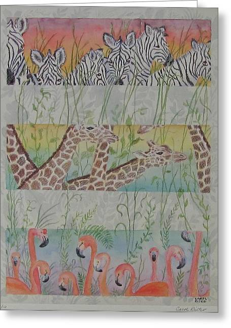 """""""jungle Vines"""" Greeting Cards - Zoo View Greeting Card by Carol Risko"""