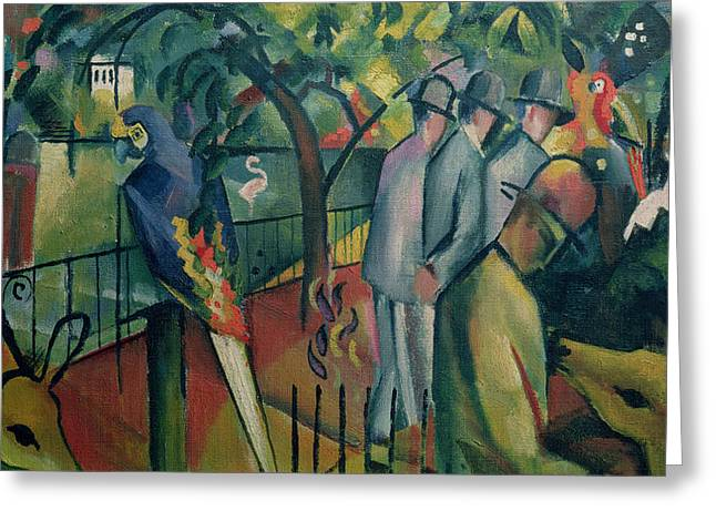 Zoo Greeting Cards - Zoological Garden I, 1912 Oil On Canvas Greeting Card by August Macke